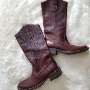 Born Leather Cowboy (girl) Boots 6.5